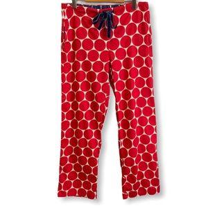 BODEN 100% Cotton Red Polka Dot Pajama Pant Sz 10